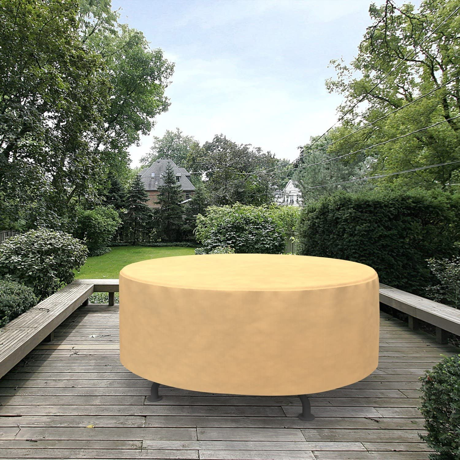 Grand Patio Round Patio Table Cover Weather Resistant Patio Table And Chair Covers Waterproof And Durable Patio Dining Set Cover Grand Patio